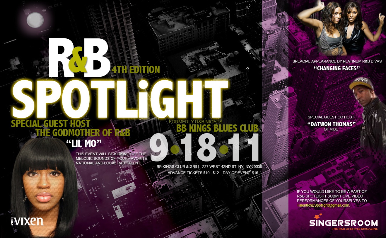Rnb Spotlight Showcase Returns to BB Kings in NYC 9/18/11