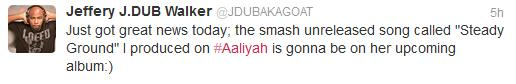 J Dub Aaliyah News News: New Aaliyah Album Confirmed to be in the Works by Producer on Project