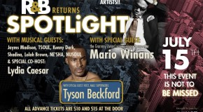 R&B Spotlight Returns to B.B. King's in NYC 7/15 Hosted by Tyson Beckford and Featuring Mario Winans