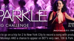 Jordin Sparks invites singers to participate in the Sparkle Singing Challenge Presented by MySpace and Sony Pictures.