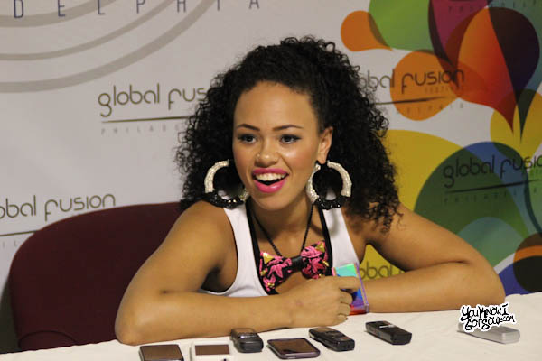 Elle Varner Fusion Festival Press Conference August 2012