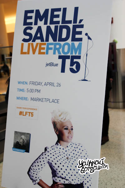 Emeli Sande JFK Jet Blue Live from T5 2013-1