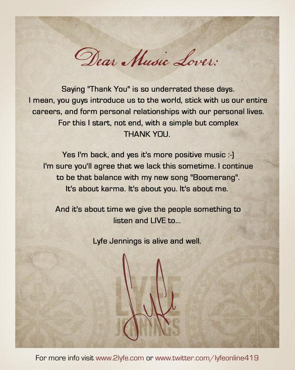 Lyfe Jennings Letter