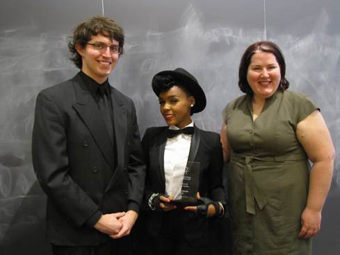 Janelle Monae Harvard 2014 2 Janelle Monáe Awarded Women's Center Award for Achievement in Arts and Media at Harvard College