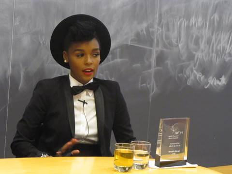 Janelle Monae Harvard 2014 Janelle Monáe Awarded Women's Center Award for Achievement in Arts and Media at Harvard College
