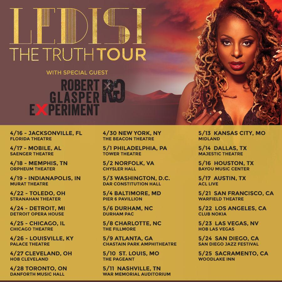 Ledisi Tour Poster Giveaway: Win Tickets to Ledisi The Truth Tour with Shaliek in Dallas & Houston