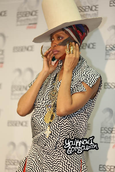 Erykah Badu Essence Festival Press Room 2014 Day 4-1