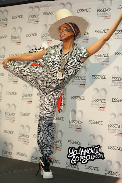 Erykah Badu Essence Festival Press Room 2014 Day 4-2