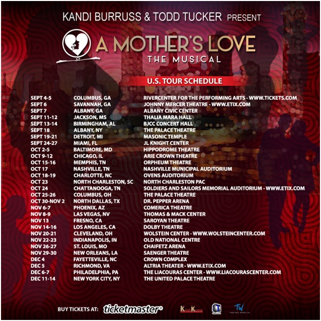 A Mothers Love US Tour Schedule Kandi, Q. Parker, Meelah & More Set to Star in A Mothers Love The Musical U.S. Tour