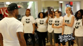 Recap & Photos: Tank Leads a Fitness Class for Press in NYC 8/15/14