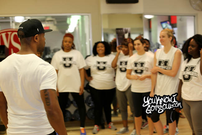 "Exclusive: Tank Teaching ""Dance With Me"" Moves to the Press in NYC 8/15/14"
