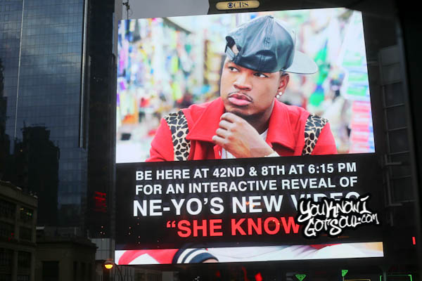 Ne-Yo She Knows Video Unveiling Times Square October 2014-4