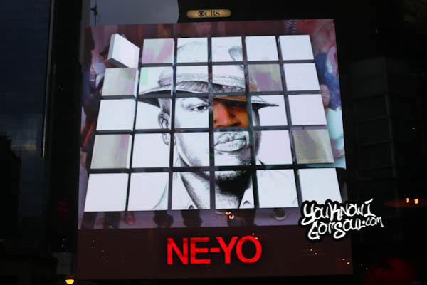 Ne-Yo She Knows Video Unveiling Times Square October 2014-5