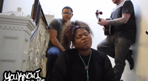 "Exclusive: Stacy Barthe Performs an Acoustic Version of ""Here I Am"" in a Staircase for YouKnowIGotSoul"
