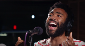 "Childish Gambino Covers Tamia's ""So Into You"" Acoustic in Studio"