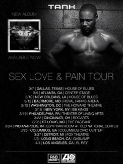 Tank Sex Love and Pain Tour