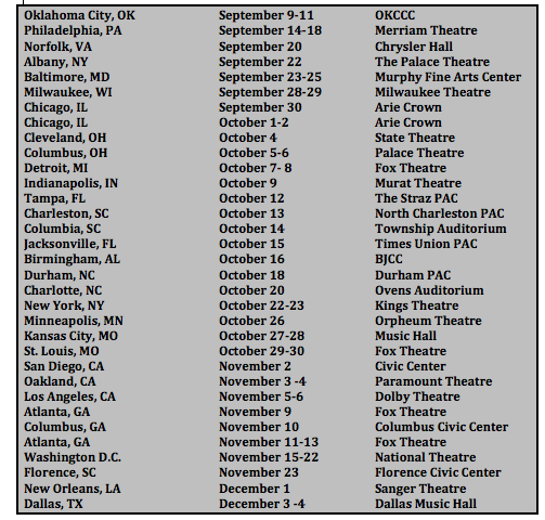 Love Jones the Musical Tour Dates