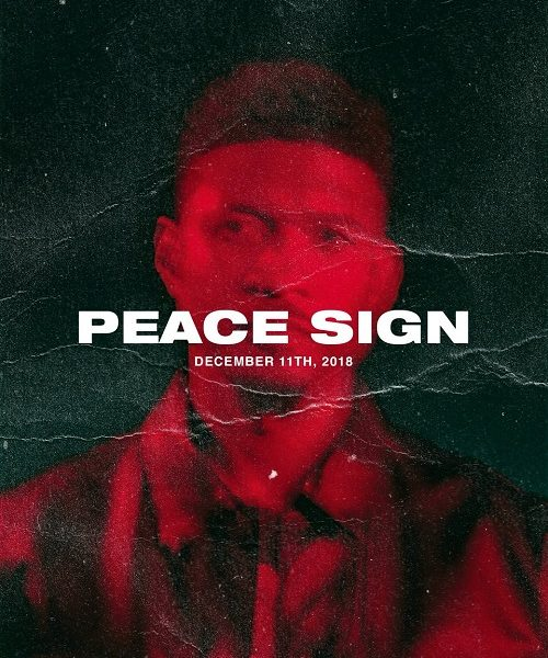 Usher Peace Sign
