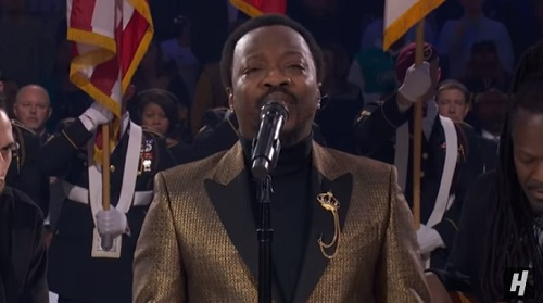 Anthony Hamilton National Anthem 2019 NBA All Star Game