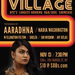 Sol Village Returns to SOBs 11/13 and Once Again Features Aaradhna!