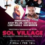 Sol Village Returns to SOBs 2/19 Feat Dondria, Avery Wilson, Sonyae Elise, Lenny Harold & GoGo Morrow