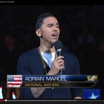 Adrian Marcel Sings the National Anthem at the Golden State Warriors vs. Cleveland Cavaliers Game