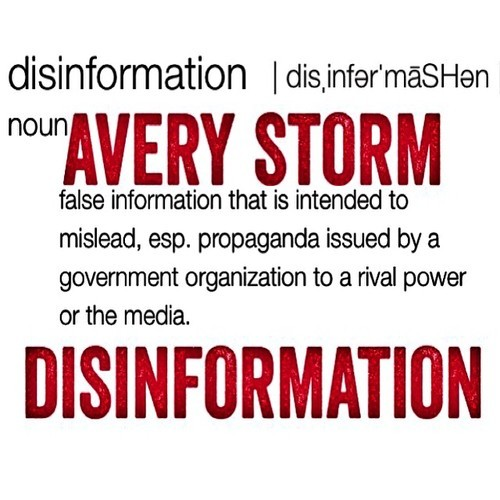 Avery Storm Disinformation