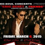 "Eric Benet to Launch ""Eric Benet & Friends"" Residency at LA's Conga Room"