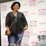 """Stacy Barthe Performing """"Flawed Beautiful Creatures"""" Acapella in the 2015 Essence Festival Press Room"""