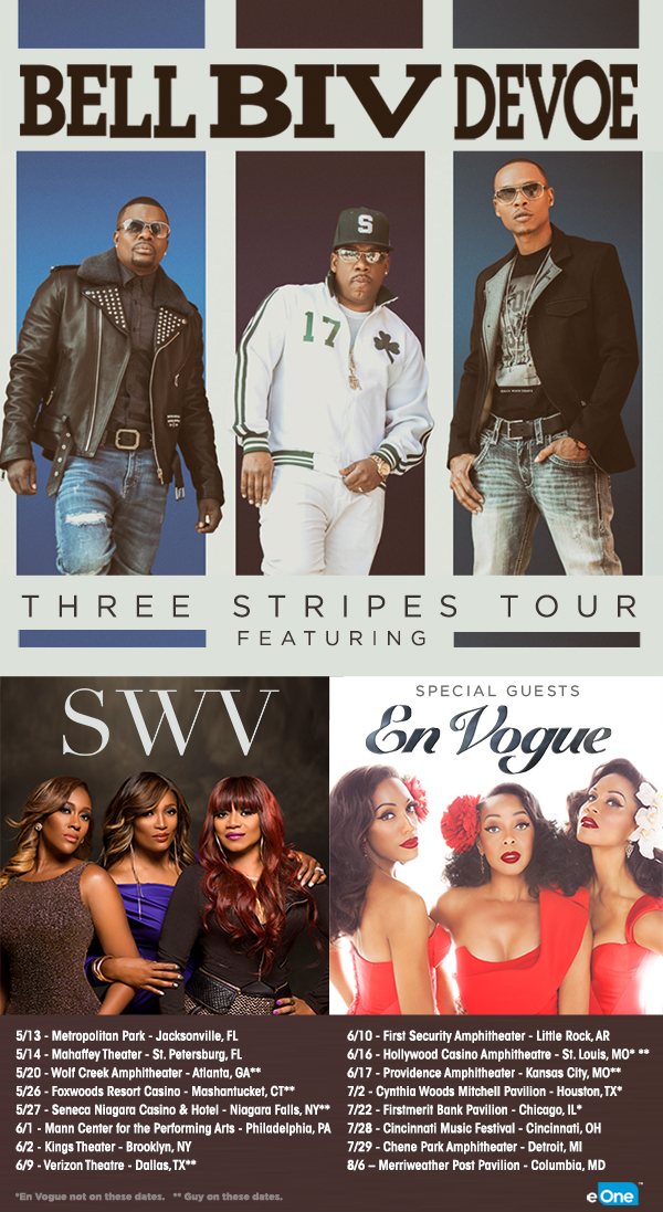 Bell Biv Devoe Announce US Tour Featuring SWV & En Vogue