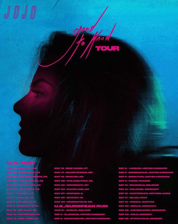JoJo Good to Know Tour Flyer