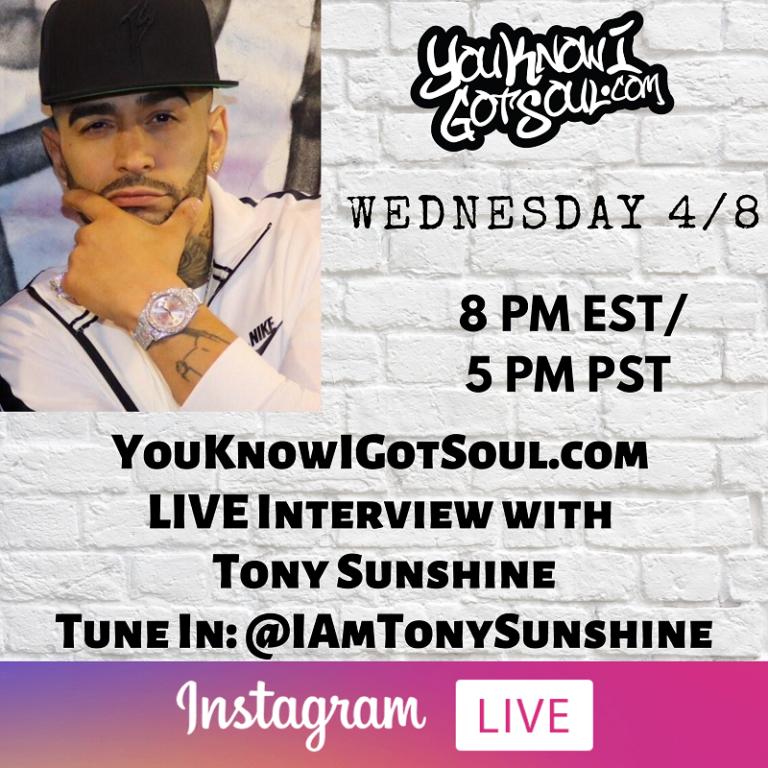 Tony Sunshine Talks Long Awaited Debut Album, Big Pun Memories, His Biggest Hits (Exclusive)