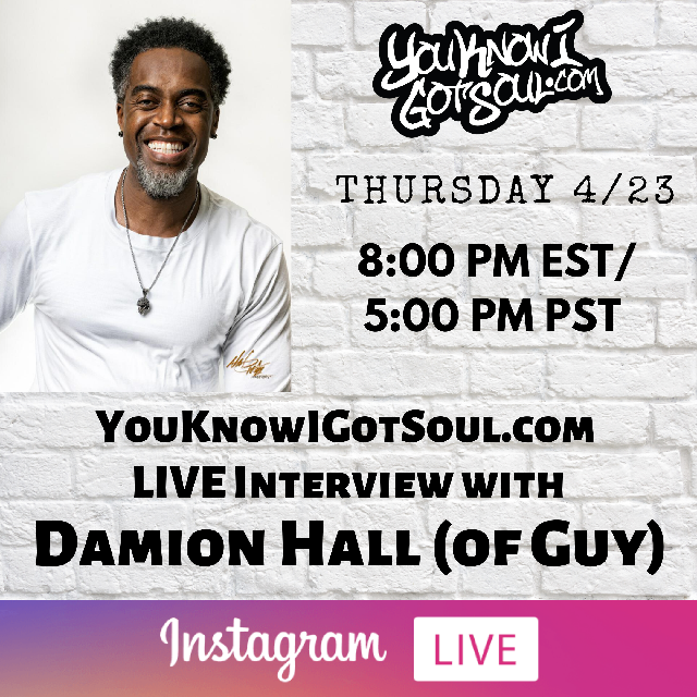 """Damion Hall Talks History of Guy, Solo Album """"Straight to the Point"""", New Guy Album (Exclusive)"""