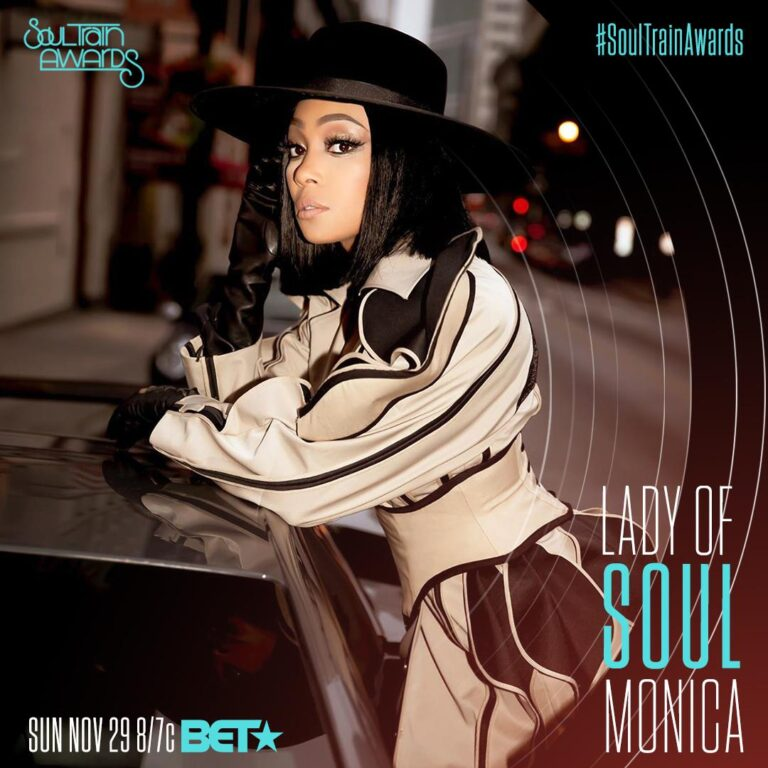 """Monica To Be Honored With the """"Lady of Soul"""" Award at 2020 Soul Train Awards"""