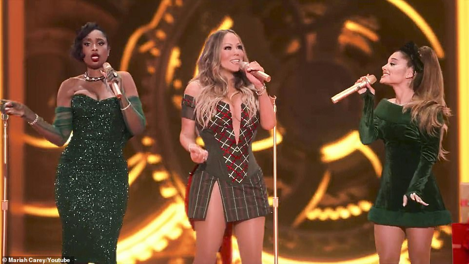 "Mariah Carey Links up with Ariana Grande & Jennifer Hudson for ""Oh Santa!"""