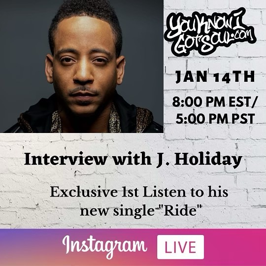 "J. Holiday Talks New Single ""Ride"", Last Album Album Being Removed From Streaming Platforms (Exclusive)"